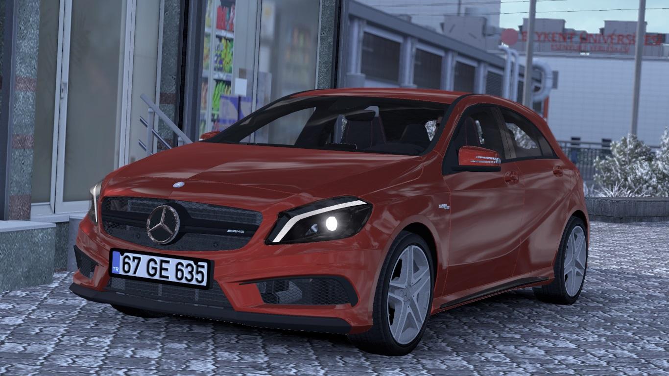 ETS 2 / ATS Mercedes Benz A45 Car Mod Picture Image Photo img