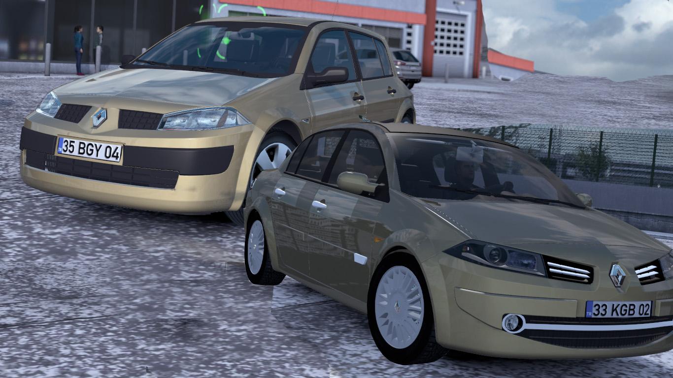 ETS 2 / ATS Renault Megane 2 Hatchback Sedan Car Mod Picture Image Photo img