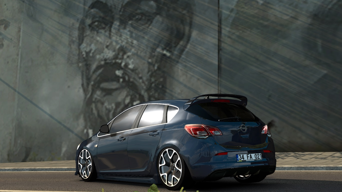 ETS 2 / ATS Opel Astra J Hatchback GTC OPC Car Mod Picture Image Photo img